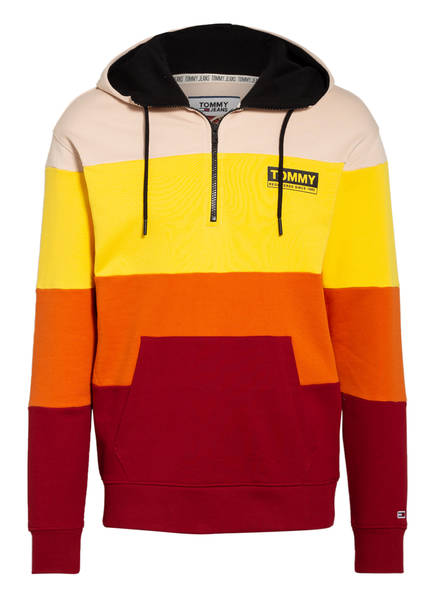 TOMMY JEANS Hoodie, Farbe: CREME/ GELB/ ROT (Bild 1)