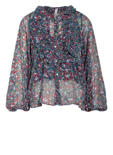 Pepe Jeans Bluse VERA mit Volants, Farbe: MINT/ ROT/ WEISS (Bild 1)