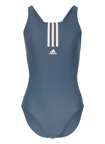adidas Badeanzug SH3.RO Mid, Farbe: GRAU/ LACHS (Bild 1)