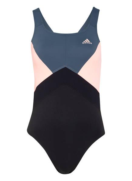 adidas Badeanzug SH3.RO 4 ANNA, Farbe: SCHWARZ/ GRAU/ LACHS (Bild 1)