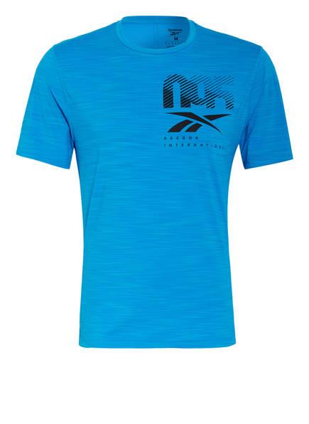 Reebok T-Shirt ACTIVCHILL GRAPHIC MOVE mit Mesh-Einsatz, Farbe: BLAU (Bild 1)
