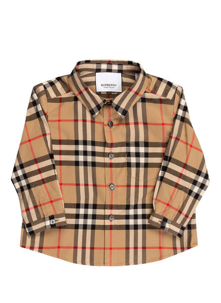BURBERRY Hemd, Farbe: BEIGE/ SCHWARZ/ ROT (Bild 1)