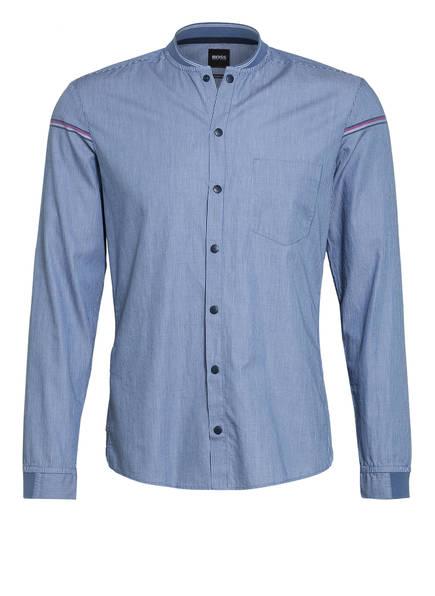 BOSS Hemd BELINDAS Slim Fit mit Stehkragen, Farbe: BLAU/ WEISS (Bild 1)