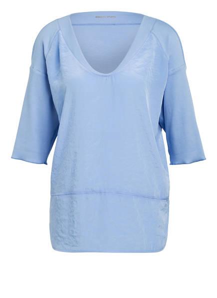 MARC CAIN Oversized-Blusenshirt im Materialmix, Farbe: Hellblau (Bild 1)