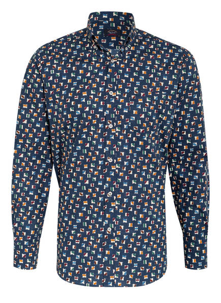 PAUL & SHARK Hemd Comfort Fit, Farbe: DUNKELBLAU/ CREME/ ORANGE (Bild 1)