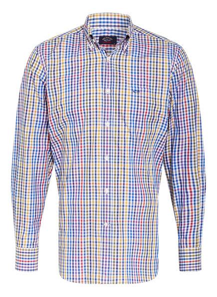 PAUL & SHARK Hemd Comfort Fit, Farbe: BLAU/ WEISS/ GELB KARIERT (Bild 1)