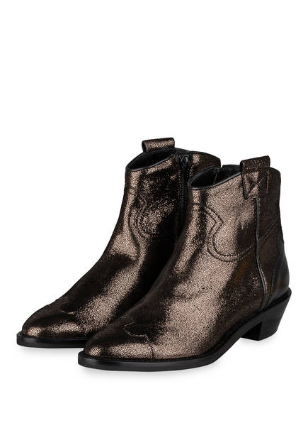 SEE BY CHLOÉ Cowboy Boots DIAMOND , Farbe: SCHWARZ/ GOLD (Bild 1)