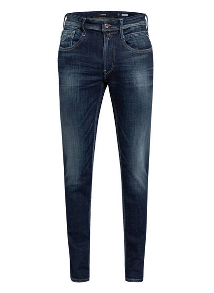 REPLAY Destroyed Jeans BRONNY Extra Slim Fit, Farbe: 007 DARK BLUE (Bild 1)