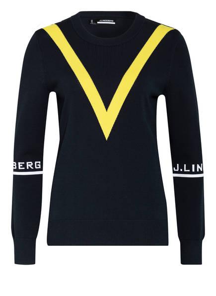 J.LINDEBERG Pullover, Farbe: NAVY/ GELB (Bild 1)