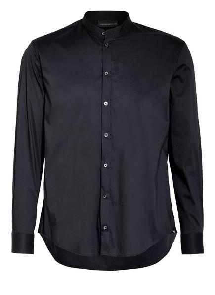 EMPORIO ARMANI Hemd RASO Comfort Fit mit Stehkragen, Farbe: DUNKELBLAU (Bild 1)