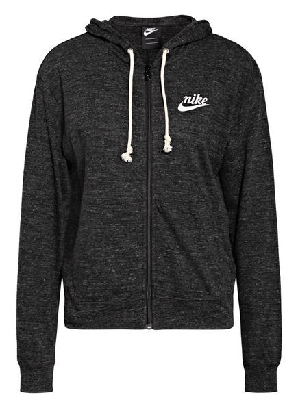 Nike Sweatjacke GYM VINTAGE, Farbe: SCHWARZ MELIERT (Bild 1)
