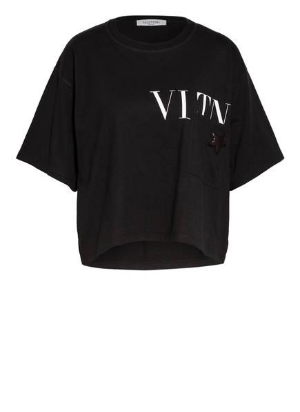 VALENTINO T-Shirt mit Paillettenbesatz, Farbe: SCHWARZ (Bild 1)