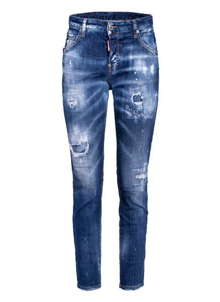 DSQUARED2 7/8-Destroyed Jeans COOL GIRL, Farbe: 470 BLUE (Bild 1)