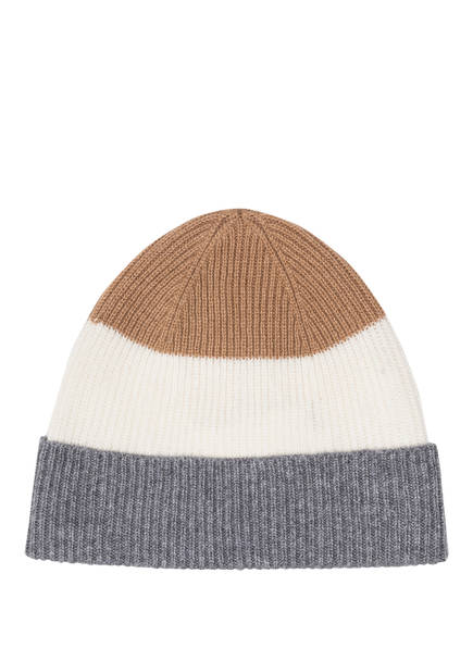 eleventy Cashmere-Mütze, Farbe: HELLBRAUN/ WEISS/ GRAU (Bild 1)