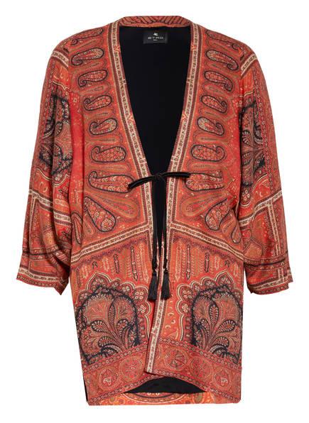 ETRO Kimono mit Leinen , Farbe: ROT/ SCHWARZ/ CREME (Bild 1)