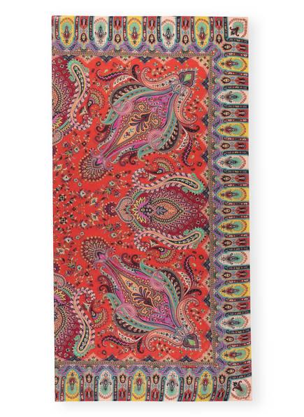 ETRO Cashmere-Tuch BOMBAY, Farbe: ROT/ GELB/ TÜRKIS (Bild 1)