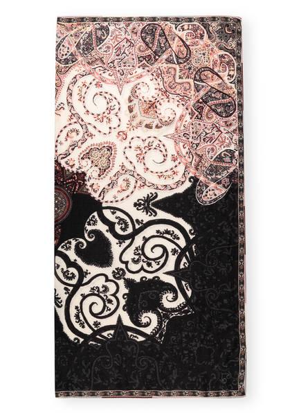 ETRO Tuch BOMBAY mit Seide, Farbe: SCHWARZ/ CREME/ ROSÉ (Bild 1)