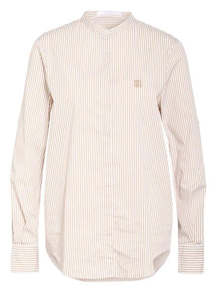 BOSS Bluse BEFELIZE, Farbe: WEISS/ BEIGE GESTREIFT (Bild 1)