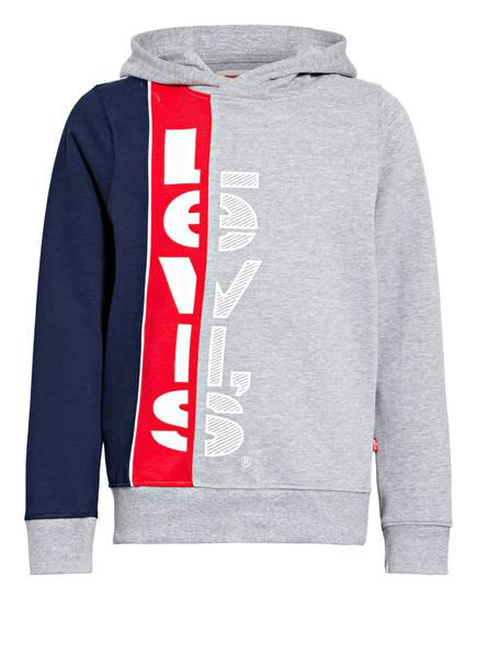 Levi's® Hoodie, Farbe: GRAU MELIERT/ DUNKELBLAU/ ROT (Bild 1)