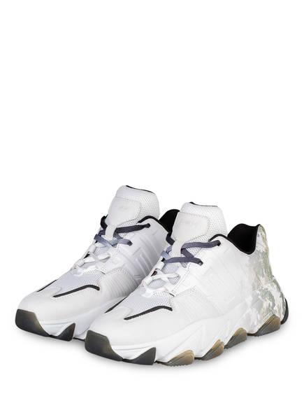 ash Plateau-Sneaker ESTASY BIS, Farbe: WEISS/ GRÜN (Bild 1)