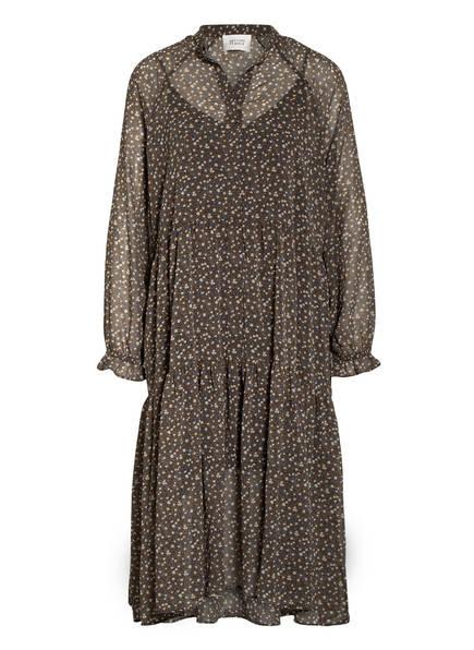 SECOND FEMALE Kleid DELLA, Farbe: GRÜN/ ECRU/ BLAU (Bild 1)