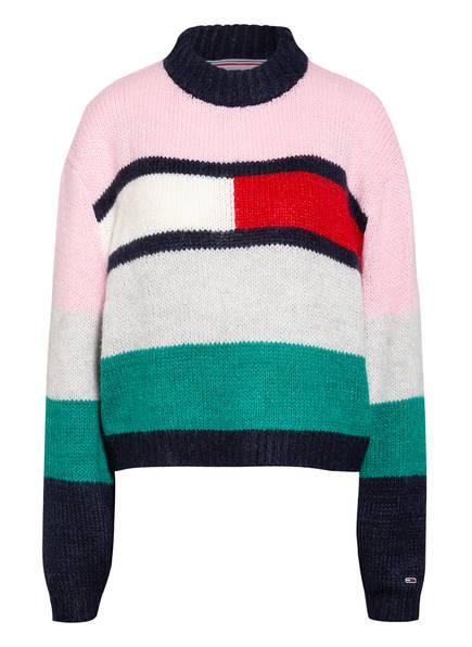 TOMMY JEANS Pullover , Farbe: HELLROSA/ HELLGRAU/ GRÜN (Bild 1)