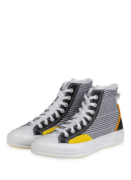 CONVERSE Hightop-Sneaker CHUCK 70, Farbe: WEISS/ SCHWARZ/ GELB (Bild 1)