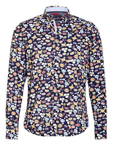 COLOURS & SONS Hemd PETER Modern Fit , Farbe: DUNKELBLAU/ WEISS/ GELB (Bild 1)