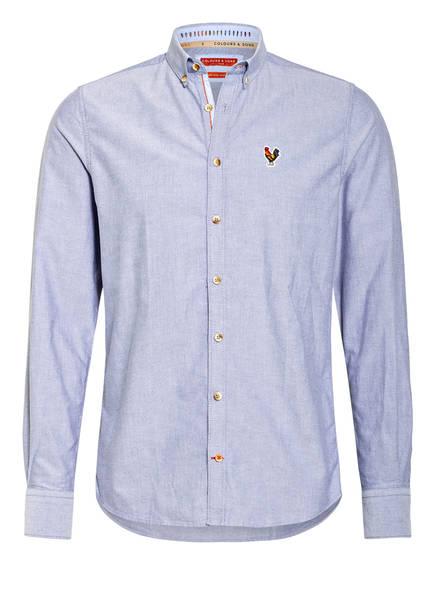 COLOURS & SONS Oxfordhemd JOHAN Modern Fit, Farbe: HELLBLAU MELIERT (Bild 1)