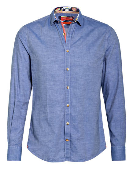 COLOURS & SONS Oxfordhemd JOHN Modern Fit , Farbe: BLAU MELIERT (Bild 1)
