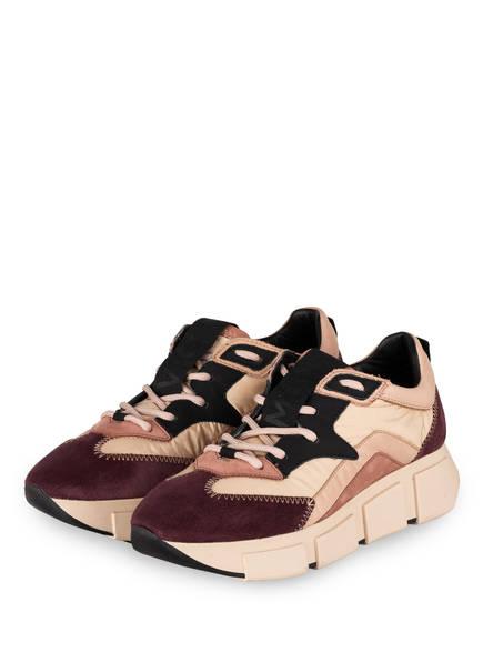 VIC MATIÉ Plateau-Sneaker, Farbe: CREME/ DUNKELLILA/ ROSÉ (Bild 1)