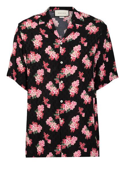 GUCCI Resorthemd Comfort Fit, Farbe: SCHWARZ/ PINK/ GRÜN (Bild 1)