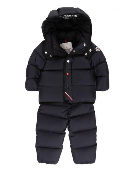 MONCLER enfant Daunen-Schneeanzug mit abnehmbarer Kapuze, Farbe: DUNKELBLAU (Bild 1)