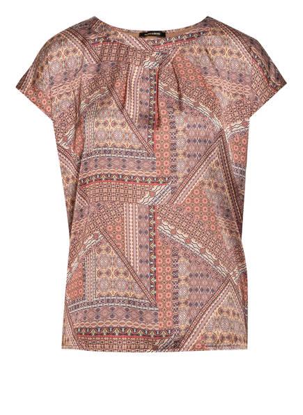MORE & MORE Blusenshirt im Materialmix , Farbe: BRAUN/ BEIGE/ ORANGE (Bild 1)