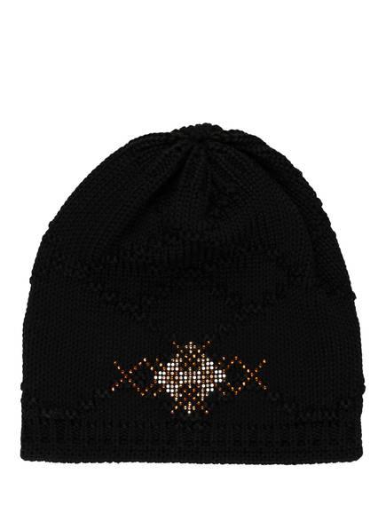 Eisbär Mütze NESKA mit Swarovski Kristallen, Farbe: SCHWARZ (Bild 1)