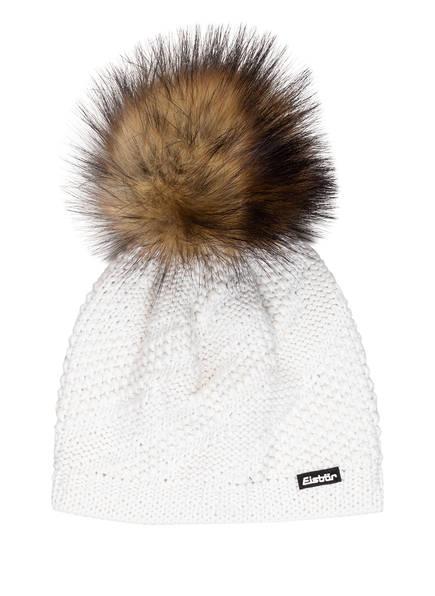 Eisbär Mütze YVA LUX mit Kunstpelzbommel, Farbe: WEISS (Bild 1)
