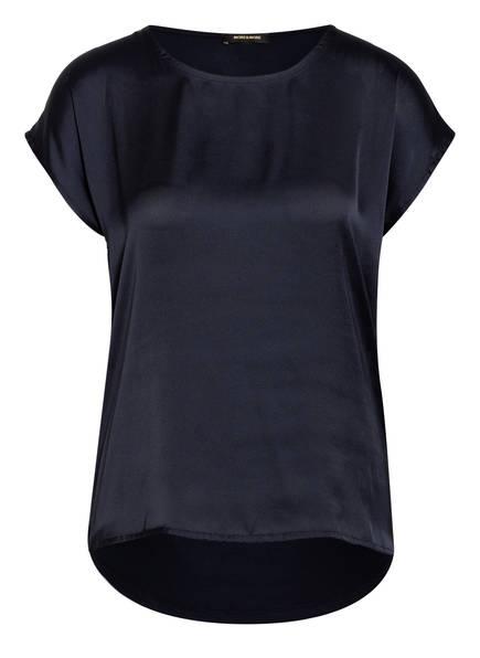 MORE & MORE Blusenshirt im Materialmix, Farbe: DUNKELBLAU (Bild 1)