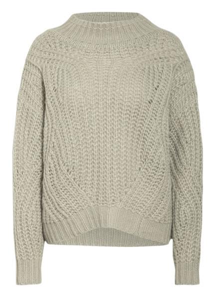 HEMISPHERE Cashmere-Pullover, Farbe: HELLGRÜN/ WEISS MELIERT (Bild 1)
