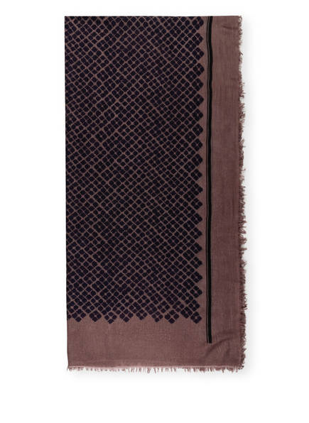 HEMISPHERE Schal, Farbe: BRAUN/ DUNKELBLAU (Bild 1)