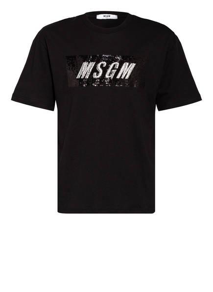 MSGM KIDS T-Shirt mit Paillettenbesatz, Farbe: SCHWARZ (Bild 1)