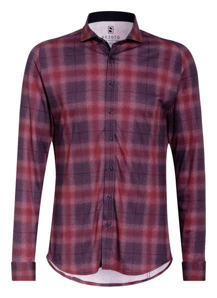DESOTO Jerseyhemd Slim Fit, Farbe: DUNKELROT/ DUNKELLILA KARIERT (Bild 1)