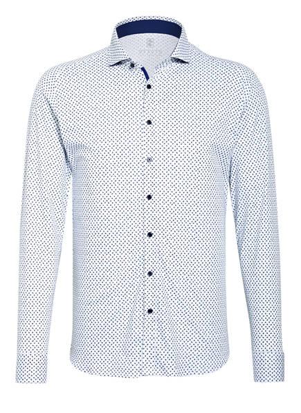 DESOTO Jerseyhemd Slim Fit , Farbe: WEISS/ BLAU (Bild 1)