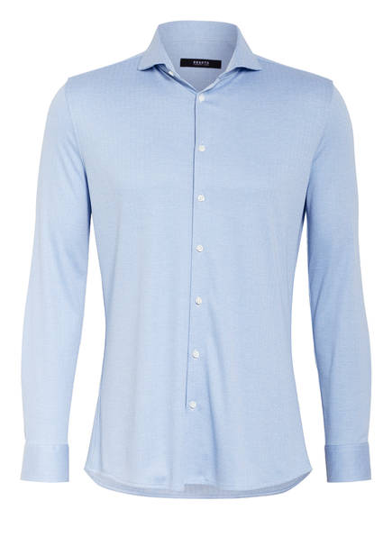 DESOTO Jerseyhemd Extra Slim Fit, Farbe: HELLBLAU/ WEISS (Bild 1)