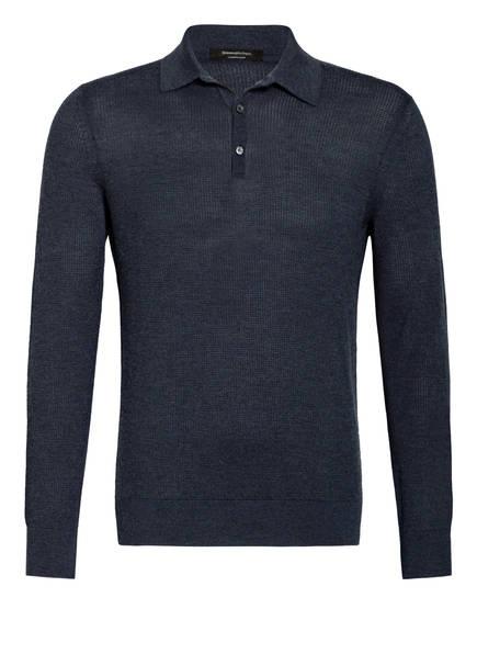 Ermenegildo Zegna Poloshirt mit Cashmere, Farbe: DUNKELBLAU (Bild 1)