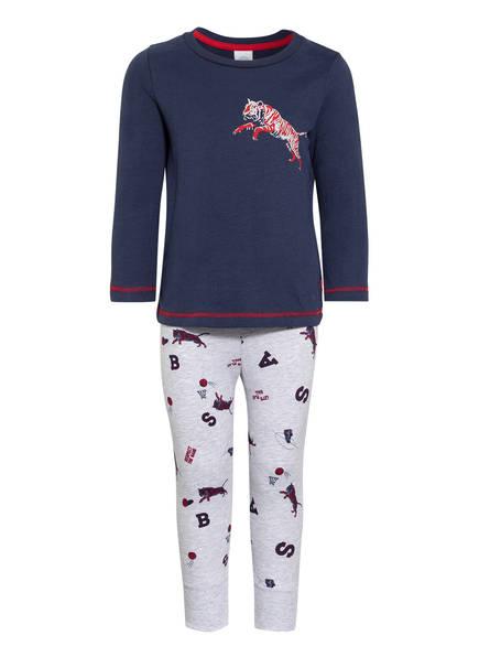 Sanetta Schlafanzug, Farbe: DUNKELBLAU/ HELLGRAU MELIERT (Bild 1)