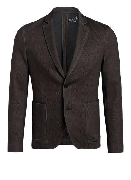 Juvia Anzugsakko Extra Slim Fit aus Jersey, Farbe: DUNKELBRAUN/ TAUPE (Bild 1)
