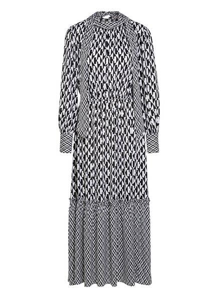 Mrs & HUGS Schluppenkleid aus Seide mit Rüschenbesatz, Farbe: WEISS/ SCHWARZ (Bild 1)