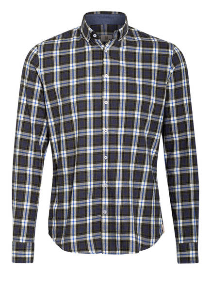 Q1 Manufaktur Hemd Extra Slim Fit, Farbe: GRAU/ BLAU/ WEISS (Bild 1)