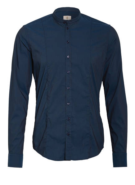 Q1 Manufaktur Hemd RENE Extra Slim Fit mit Stehkragen, Farbe: DUNKELBLAU (Bild 1)