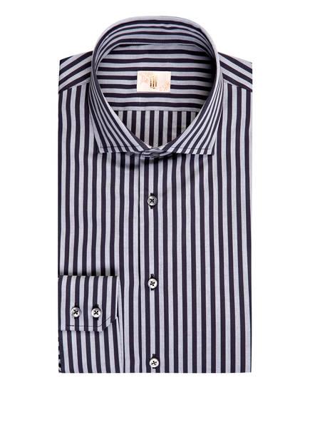 Q1 Manufaktur Hemd Extra Slim Fit, Farbe: DUNKELGRAU/ HELLGRAU GESTREIFT (Bild 1)